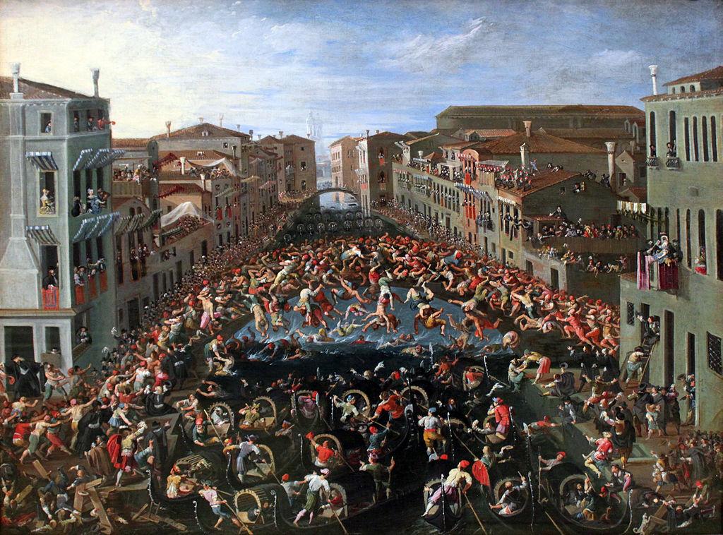 Joseph Heintz il Giovane, Competizione al ponte dei pugni a Venezia, 1673
